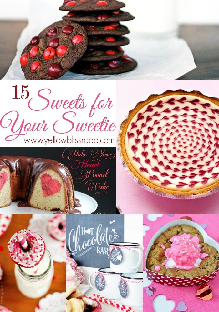 15 Sweets for Your Sweetie - A delicious round up of treats for Valentine's Day