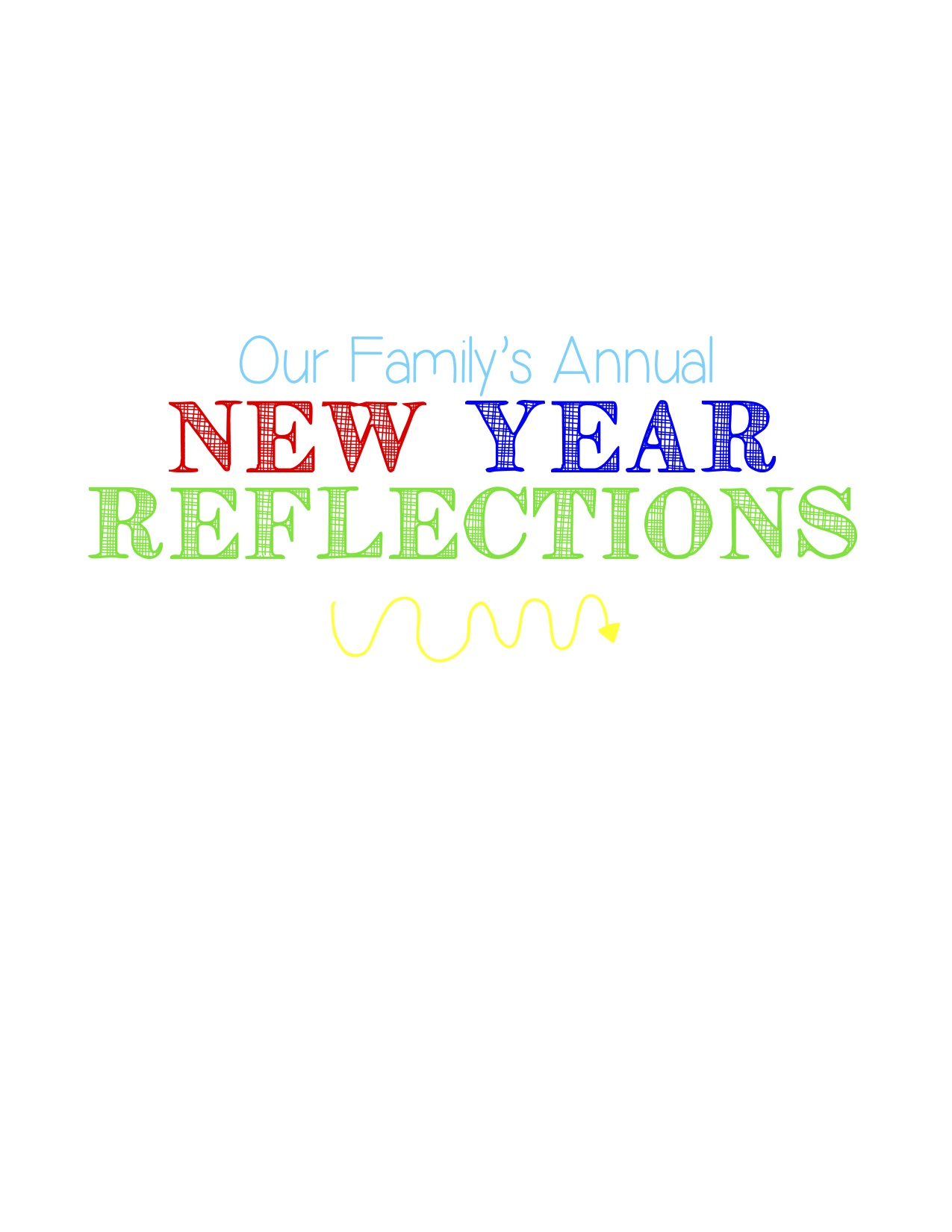New Year Reflections: Family Tradition Looking Back on the Year