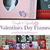 SImple & Sparkly Valentine's Day Frames from Bombshell Bling