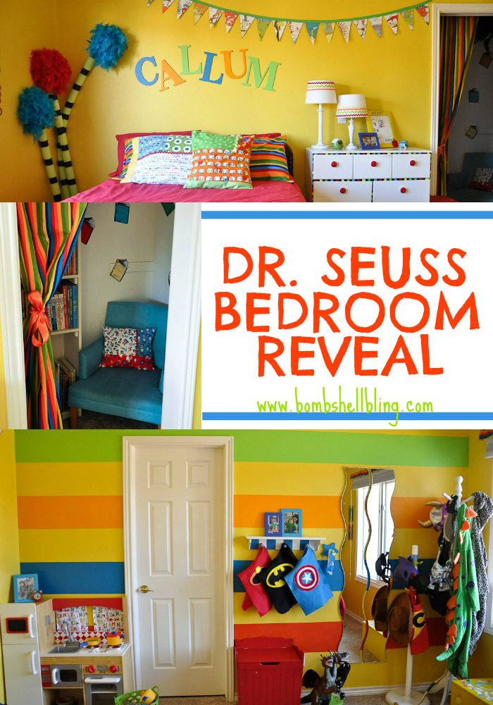 I am SO EXCITED to show you my son s Dr  Seuss bedroom  I have been working  on it for soo long  and I am immensely relieve that it is finally finished. Dr Seuss Bedroom Reveal