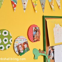 These mini bulletin boards look crazy simple--totally using this technique with my own fabric to make some for the house!