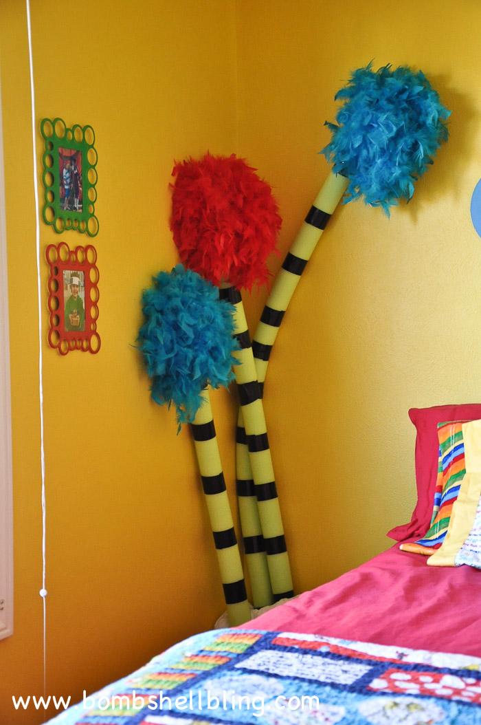 Dr. Seuss Themed Room : How to Make Truffula Trees