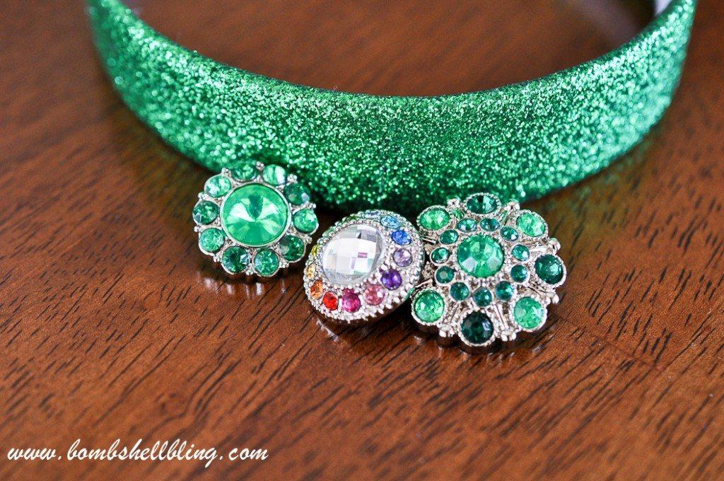 St Patrick's Day Rhinestone Headband-1