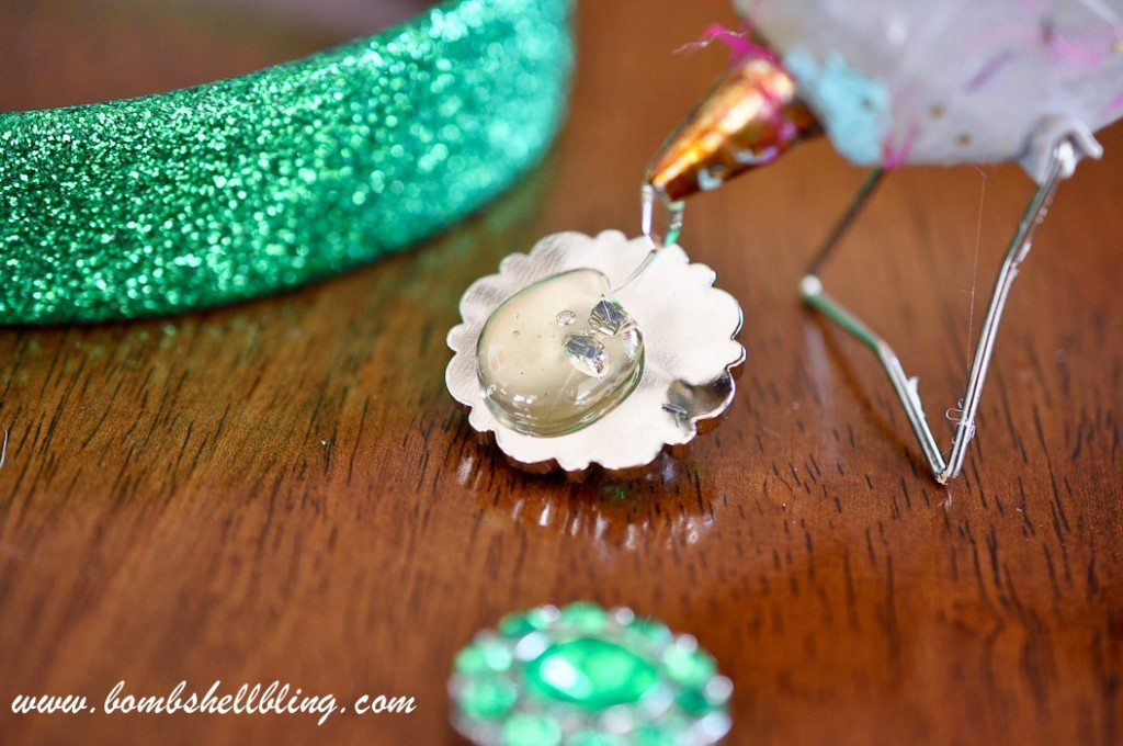 St Patrick's Day Rhinestone Headband-3