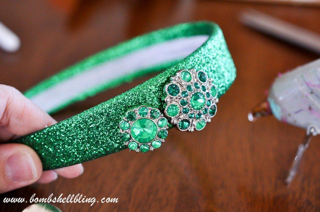 St Patrick's Day Rhinestone Headband-5