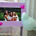 Stenciled Glittered Frame-12