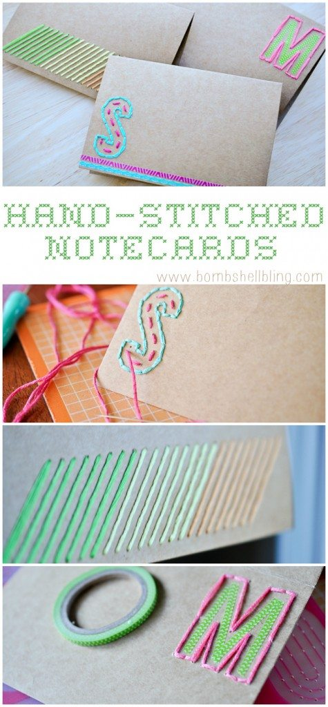 Hand Stitched Notecards by Bombshell Bling