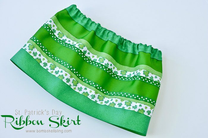 A skirt made of ONLY ribbons!  I LOVE IT!!  If you can sew a straight line then you can sew this skirt!