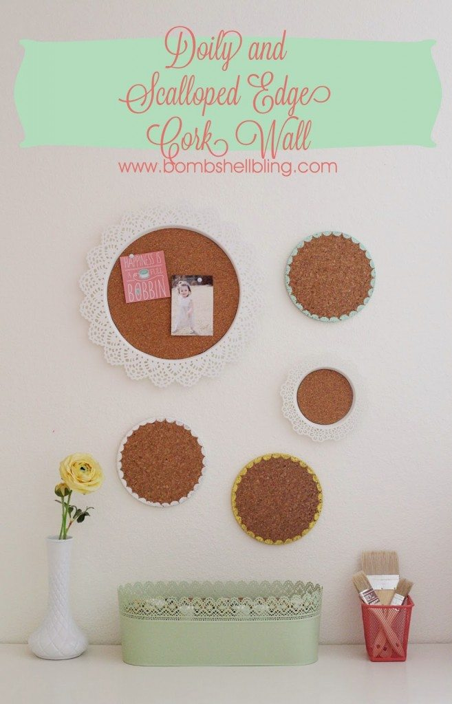 Make a pretty and function cork wall command station for your family using this tutorial!