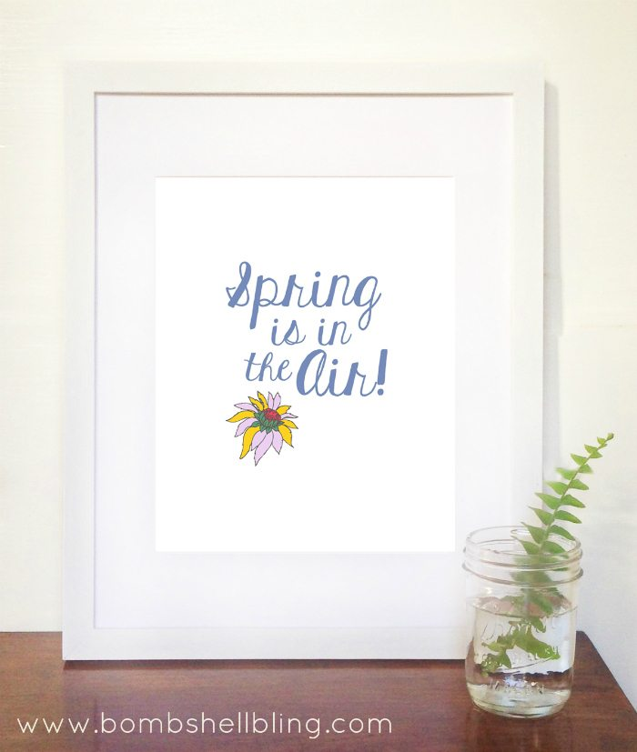 Spring is in the Air Free Printable