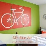 DIY Bike Art --- I LOVE this for a kid's room!