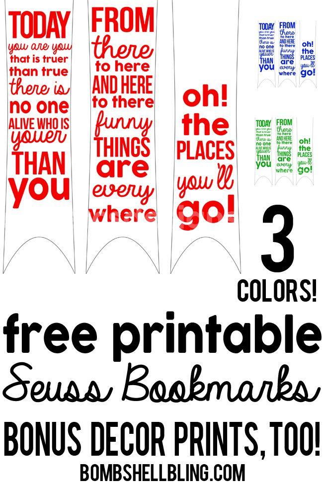 Dr Seuss Love Quote Captivating Free Printable Dr Seuss Bookmarks