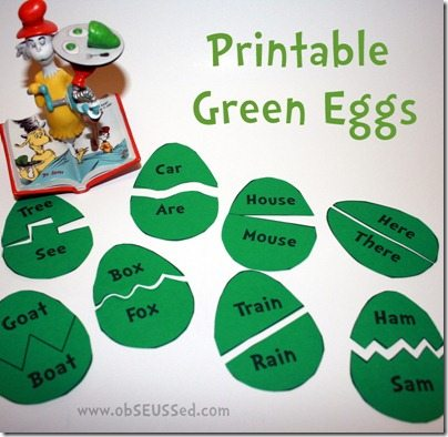 Green Eggs Ham Printable Activity From ObSEUSSed