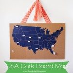 US Cork Board Map 1