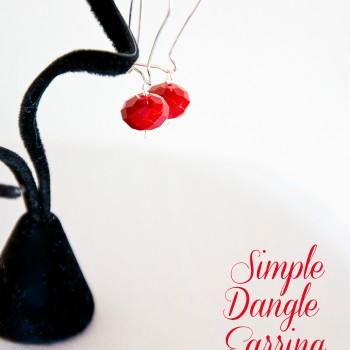 Simple Dangle Earring Tutorial