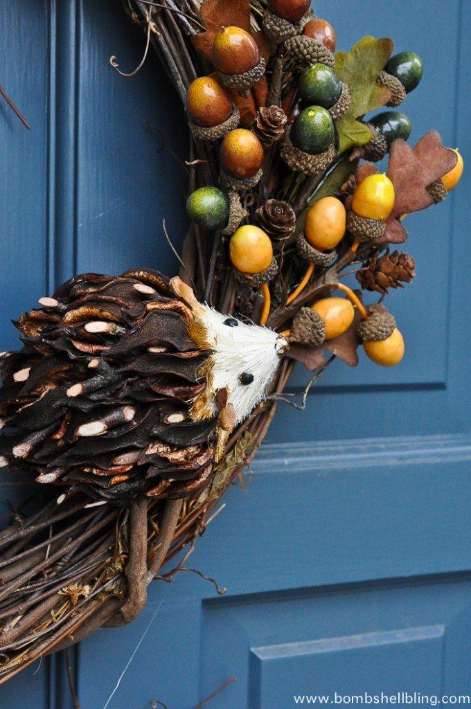 Fall Hedgehog Wreath-2