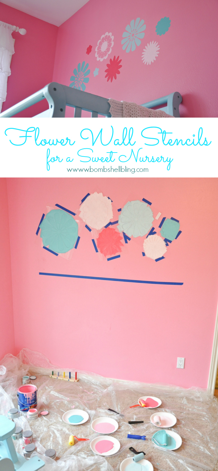 Flower wall stencils for a sweet nursery amipublicfo Images