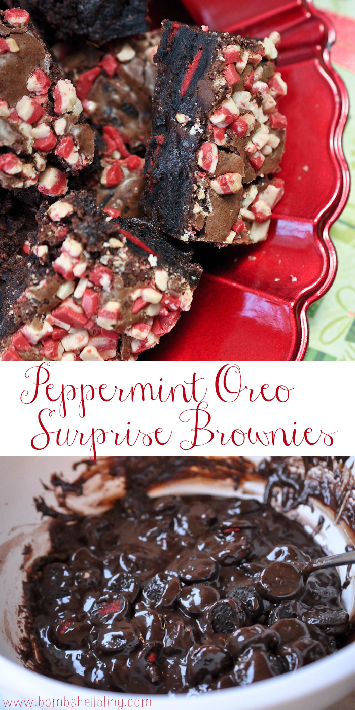 Peppermint Oreo Surprise Brownies from Bombshell Bling