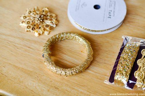 Gold Wreath Ornament Tutorial-3