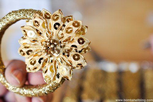 Gold Wreath Ornament Tutorial-5
