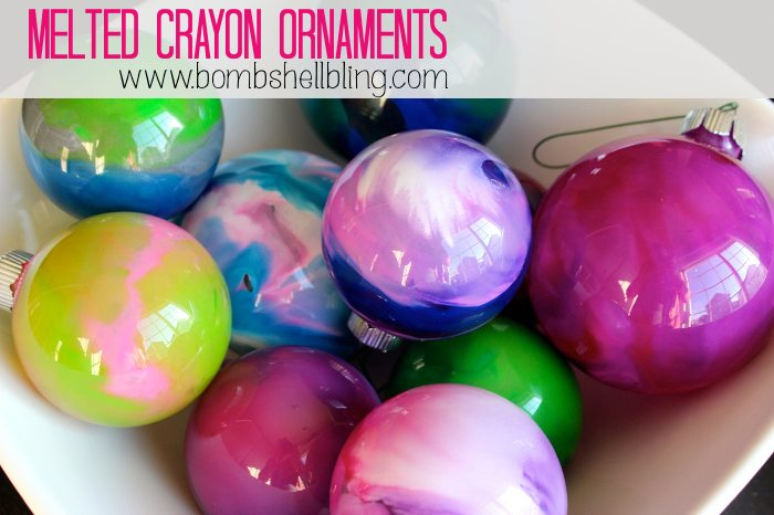 Melted crayon ornaments for Christmas ornament craft ideas adults