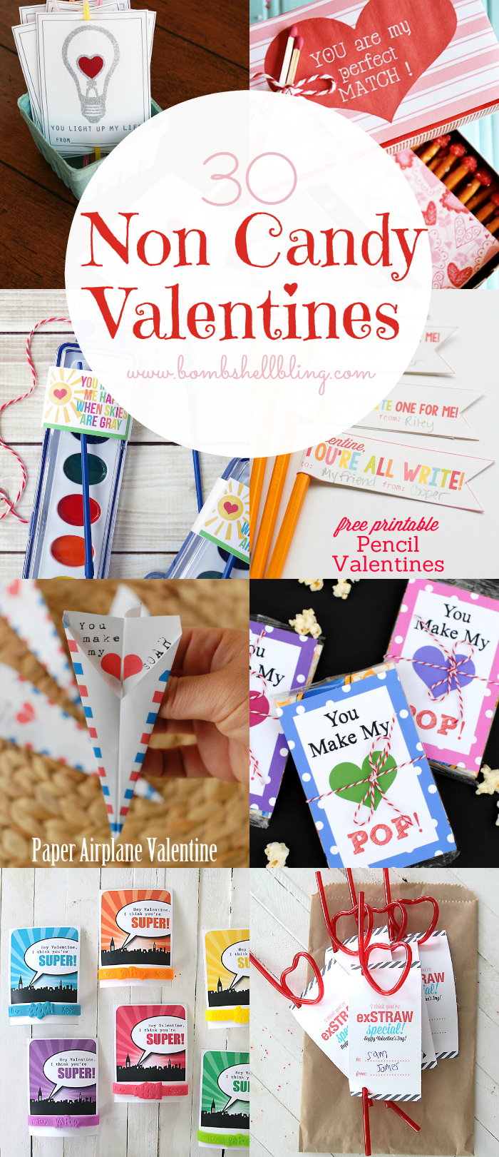 Non candy valentine ideas printables over 30 to choose from for Valentine party crafts for school