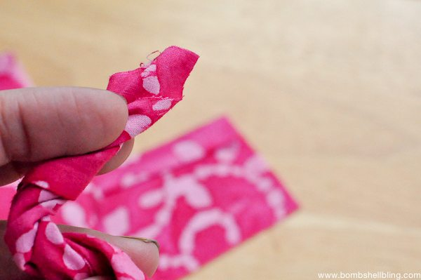 Rolled Fabric Flowers-2