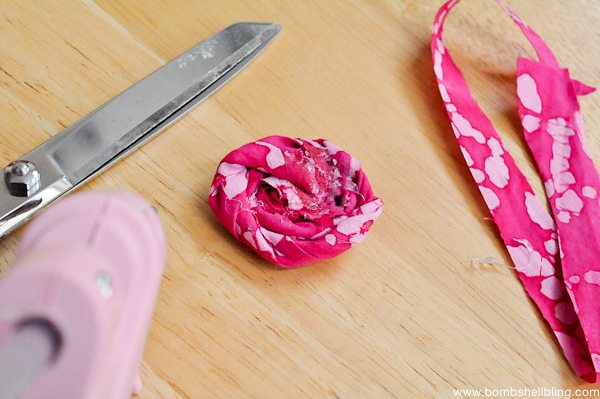 Rolled Fabric Flowers-6