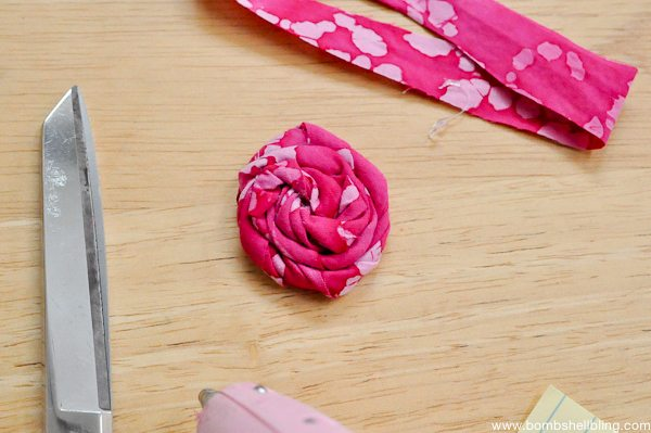 Rolled Fabric Flowers-7