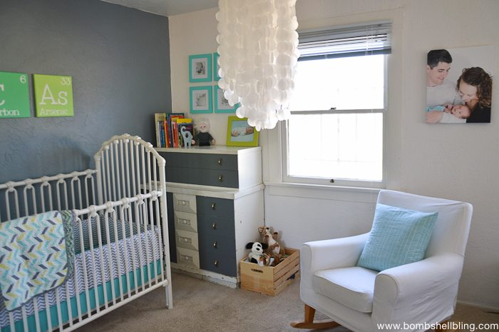 One Of The Greatest Things About This Retro Nursery Is That It Largely Thrifted She Bought Gorgeous Wroguth Iron Crib On Craigslist