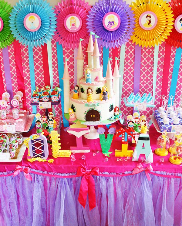 Colorful Disney Princess Party From Hostess With The Mostess