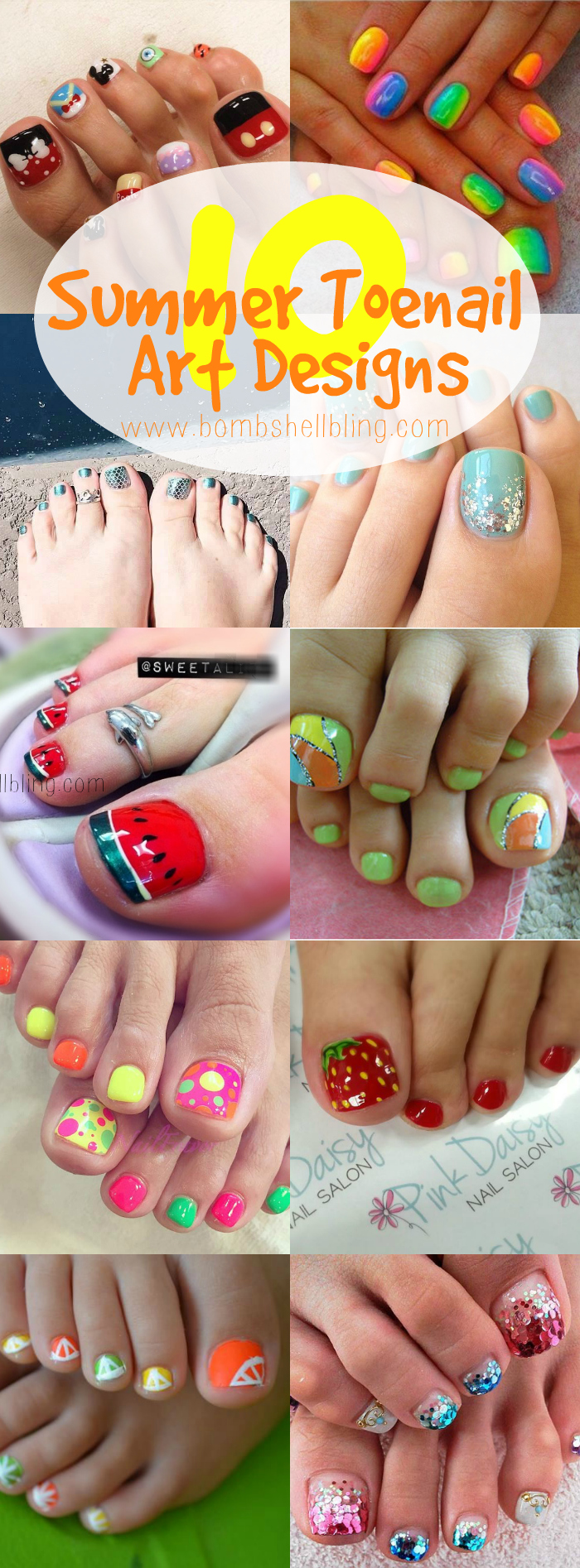 10 Summer Toenail Art Ideas