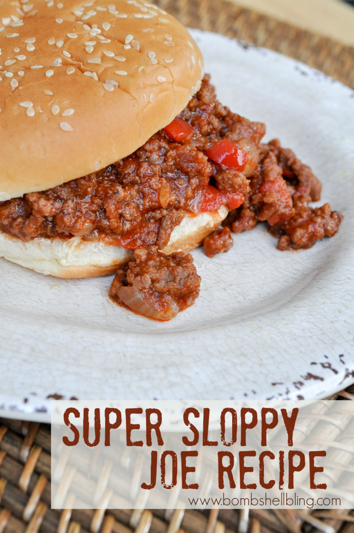 Super Sloppy Joe Recipe - Perfect for busy weeknights and a favorite for kids and grown ups alike!