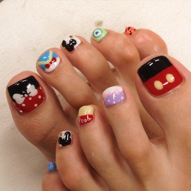 10 ideas for summer toenail art - Toe Nail Designs Ideas