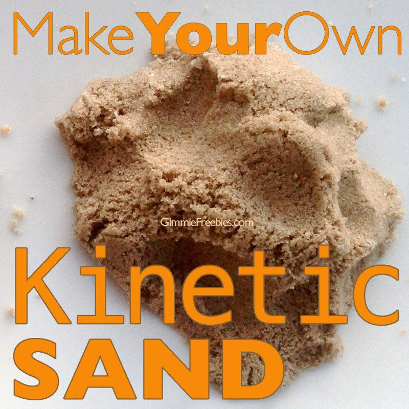 Make Your Own Kinetic Sand from Gimme Freebies & 15 Seashore Inspired Kid Crafts