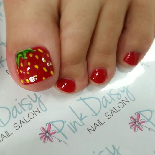 10 summer toenail art ideas neon polka dot toenail art prinsesfo Image collections