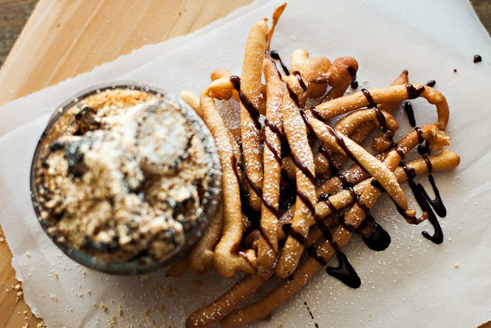 Funnel Cake French Fries With S Mores Dip Recipe