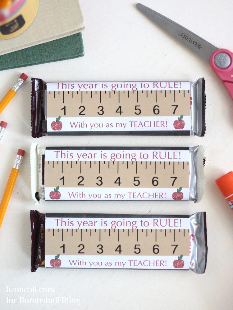 Back to school teacher gift idea for Candy bar wrapper ideas