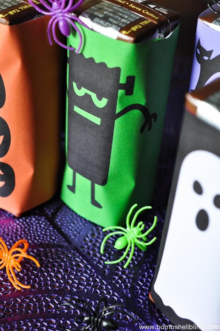 Free Printable Halloween Milk Box Wrappers