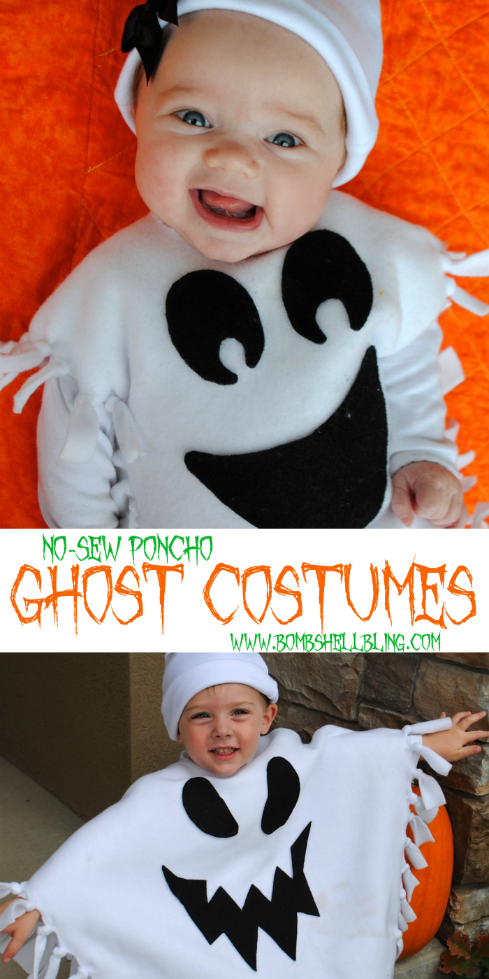 No sew ghost costume tutorial anyone can make this is sarahs sister rachel and last halloween i somehow created a really darling and really easy no sew ghost costume for my kids solutioingenieria Gallery