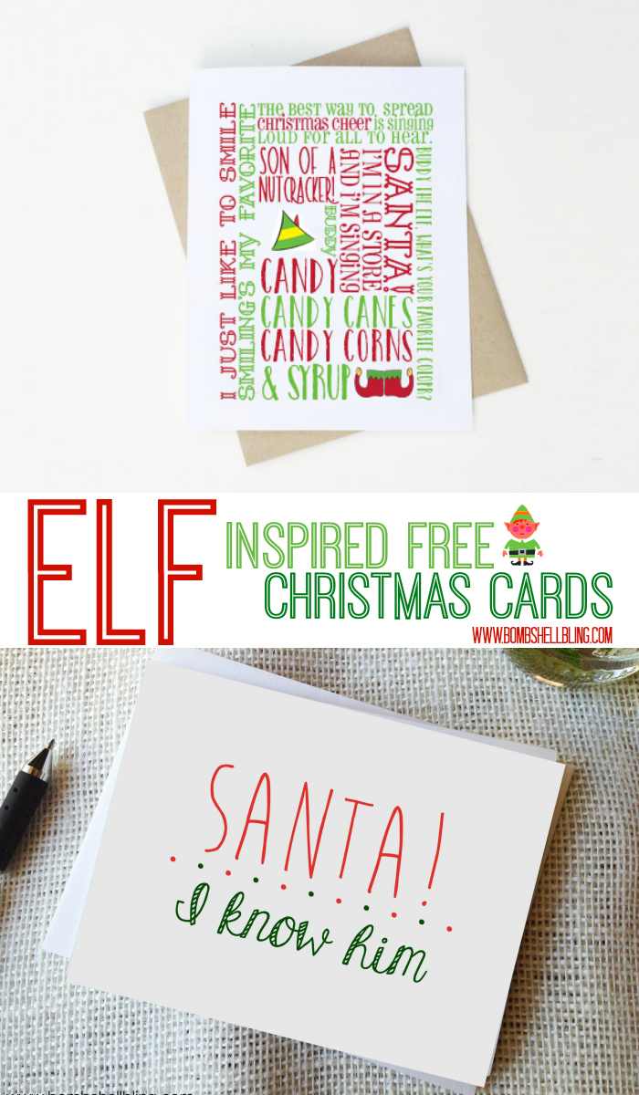 Free Elf Printable Cards And Decor Bombshell Bling