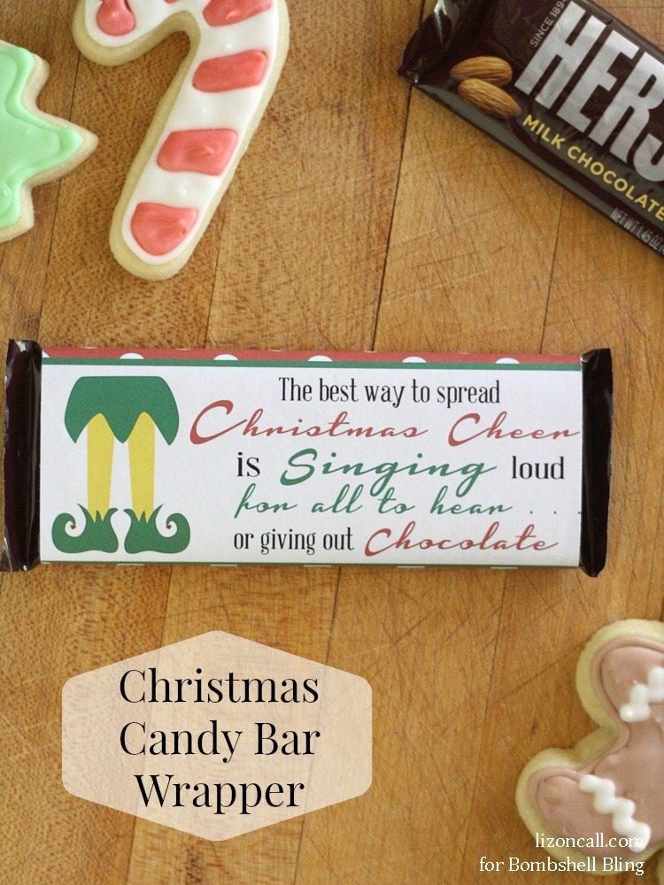 Elf Inspired Printable Christmas Candy Bar Wrapper - Bombshell Bling