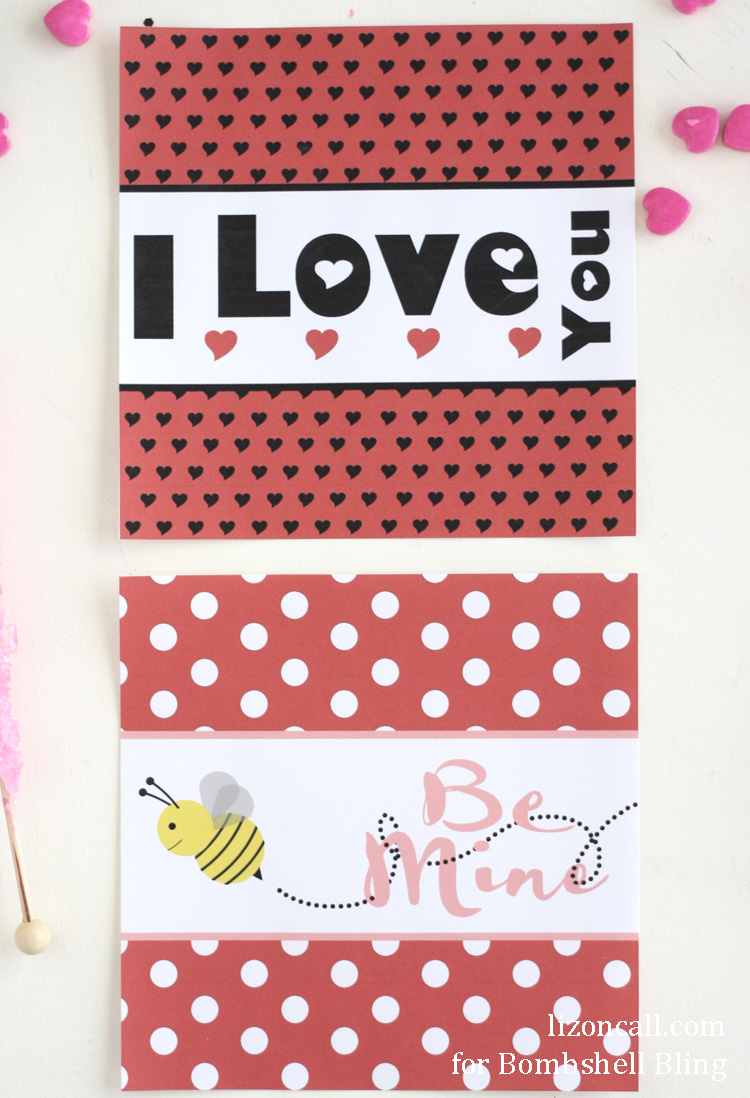 Printable Valentine Candy Bar Wrappers - Bombshell Bling