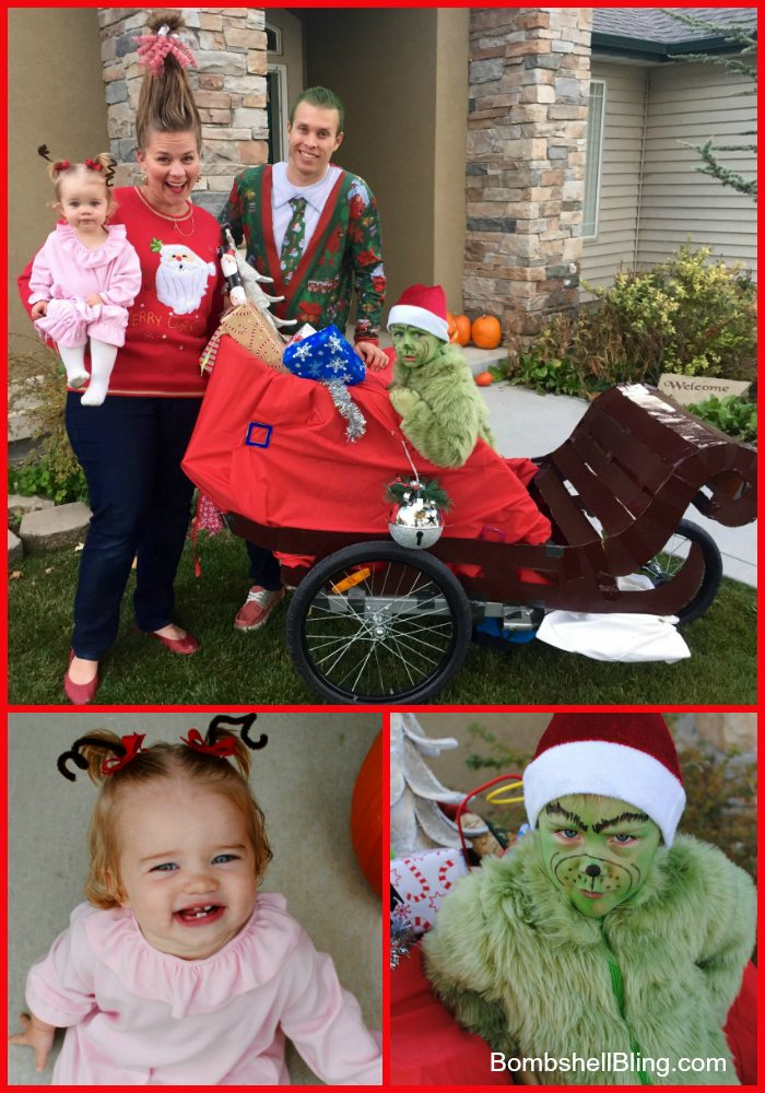 83d7204d208a The Grinch and Cindy Lou Who Halloween Costumes (and Christmas Card!)