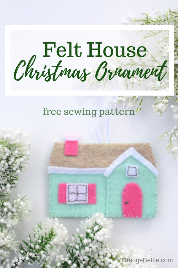 Felt House Christmas Ornament Tutorial from Bombshell Bling